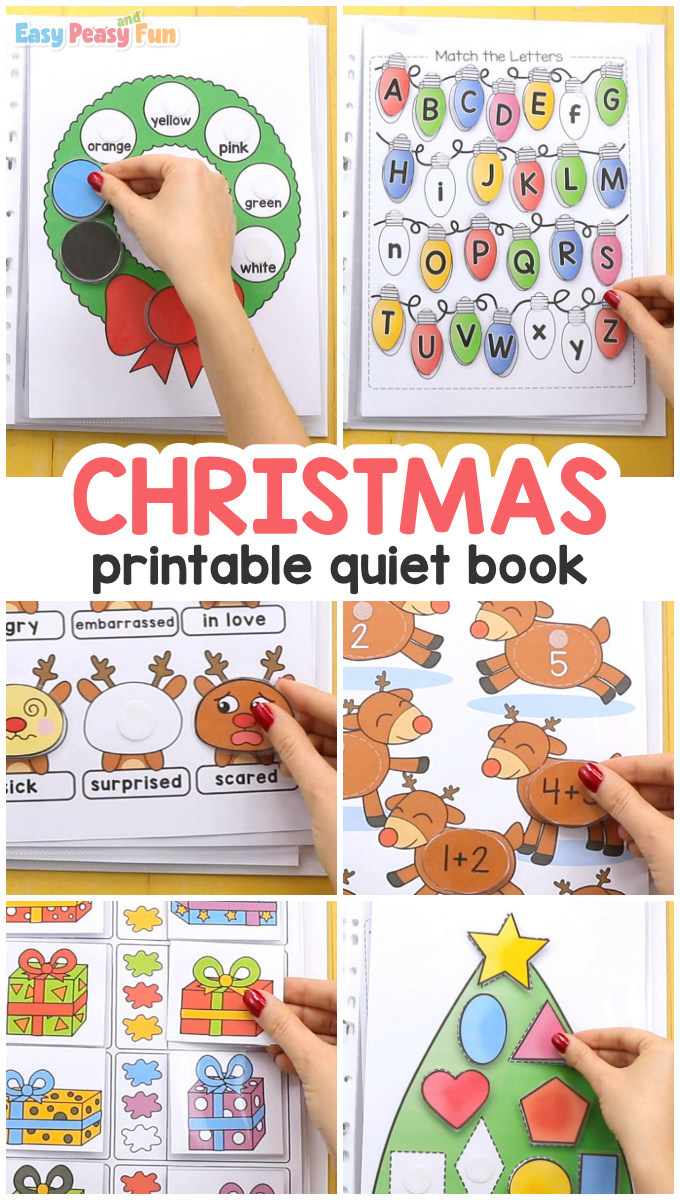 Printable Christmas Quiet Book for Kids
