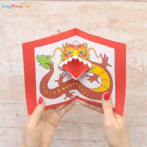 Chinese Dragon Pop Up Card Template