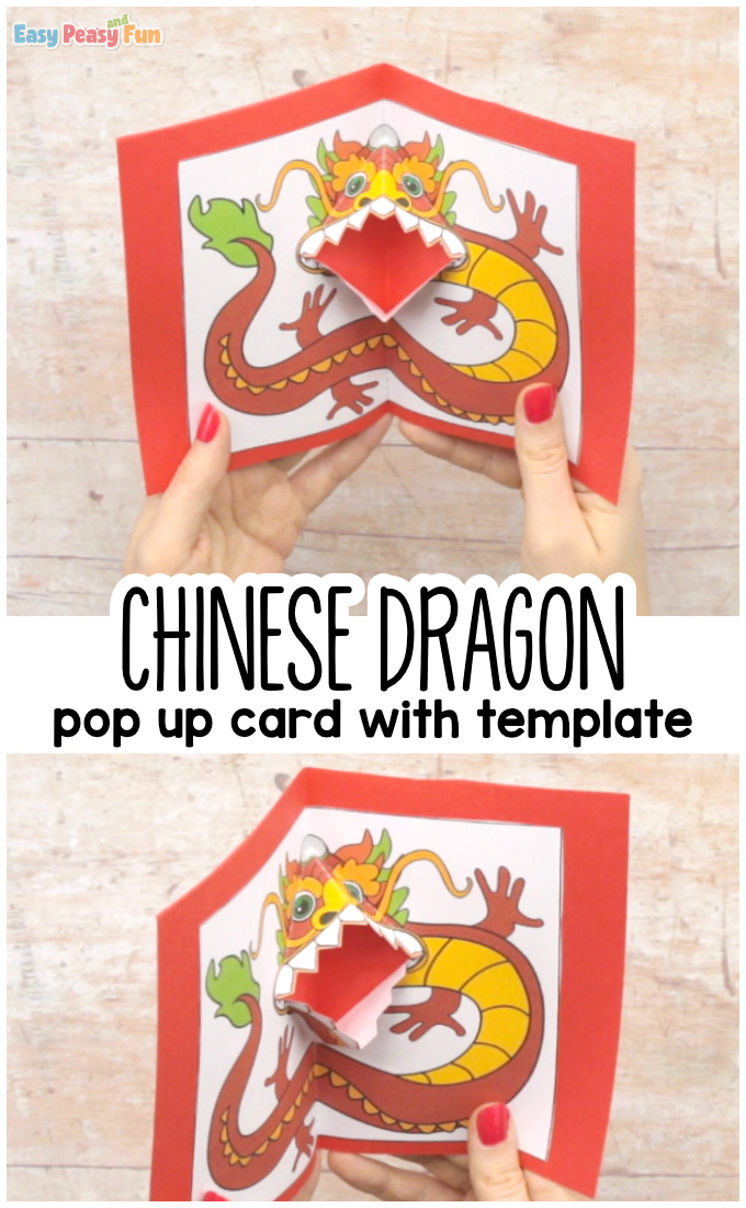 Chinese Dragon Pop Up Card Template Printable