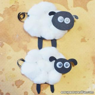 Cotton Ball Sheep Craft for Kids to Make