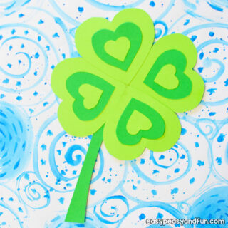 Four Leaf Clover Craft for Kids to Make