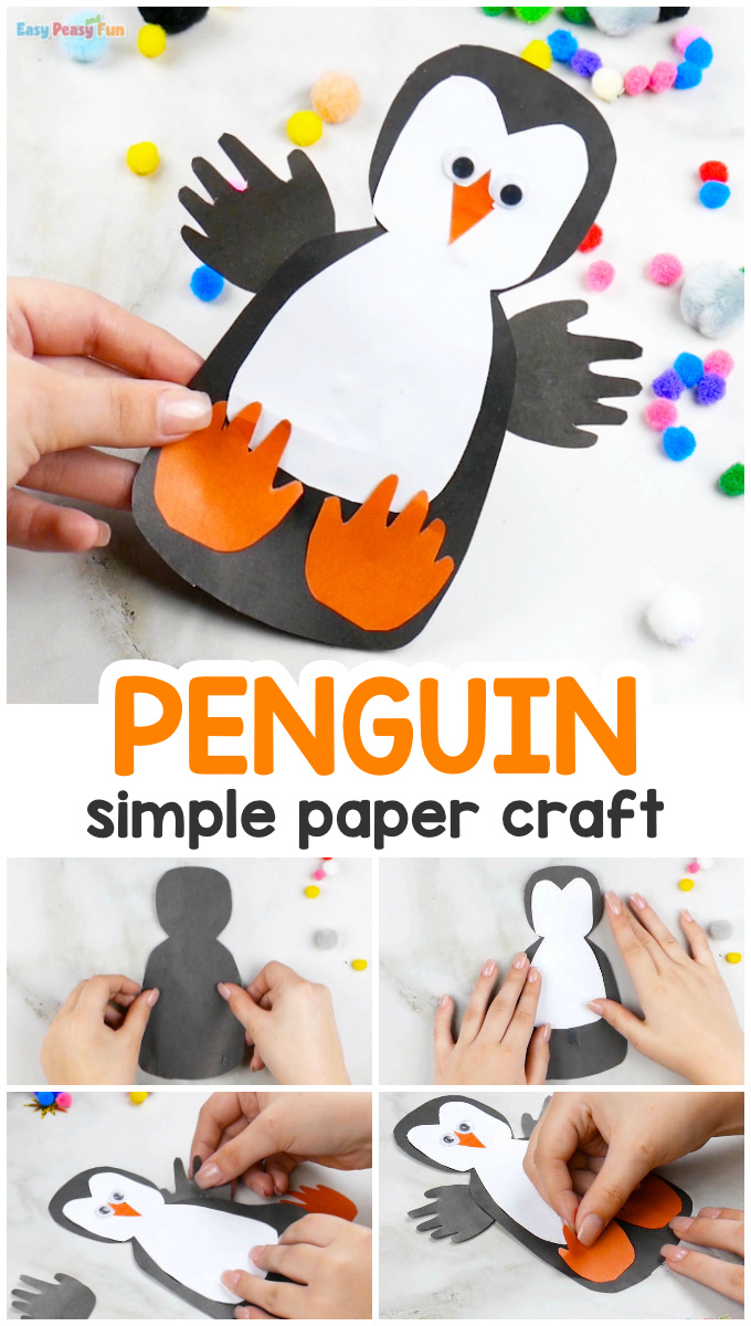 Paper Penguin Craft for Kids