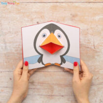 Penguin Pop Up Card Template