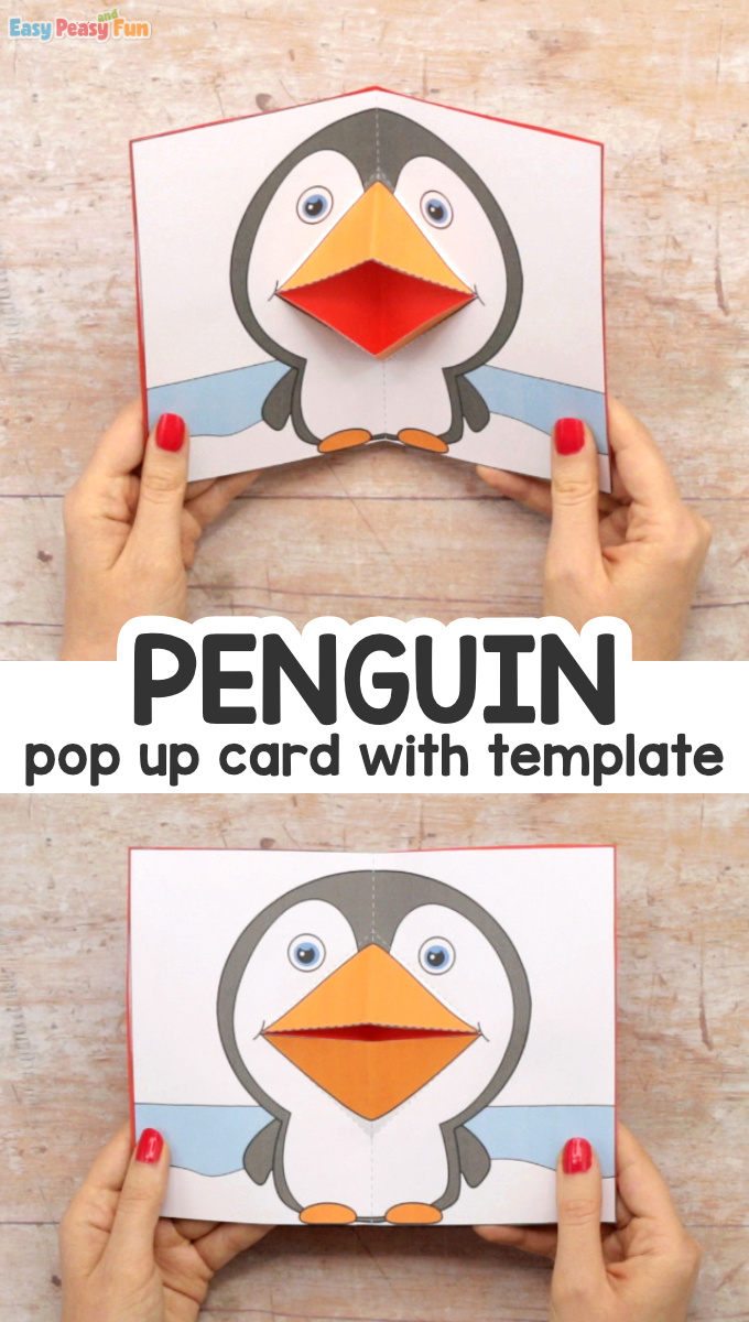 Penguin Pop Up Card Template Printable for Kids