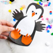 Handprint Simple Paper Penguin Craft