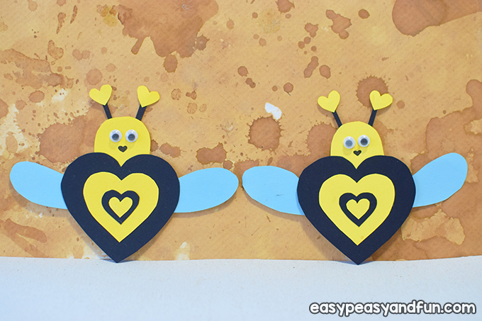 Valenitnes Day Bee Paper Craft for Kids