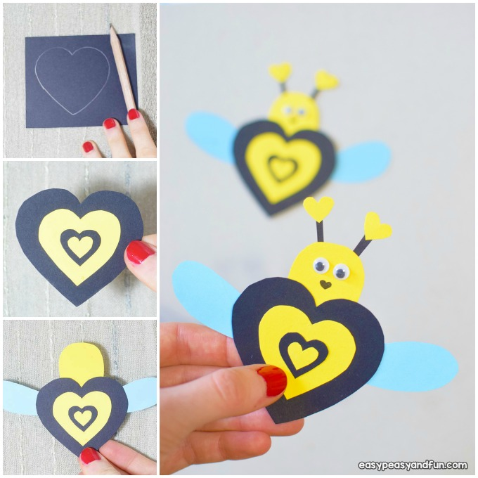 Valentine Bee Craft Idea