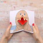 Walrus Pop Up Card Template Craft