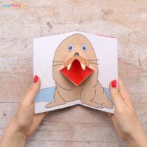 Walrus Pop Up Card Template