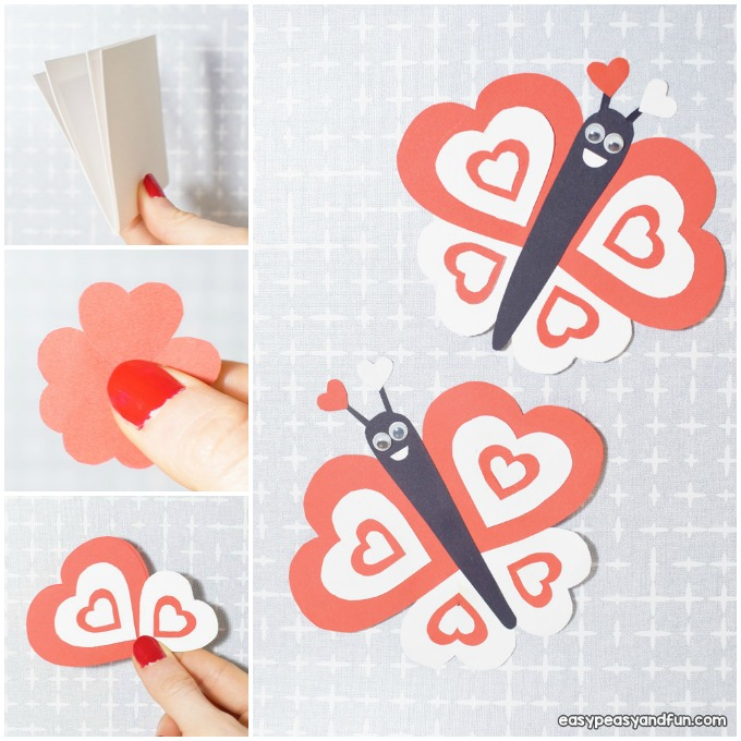 Butterfly Valentines Day Paper Craft Idea