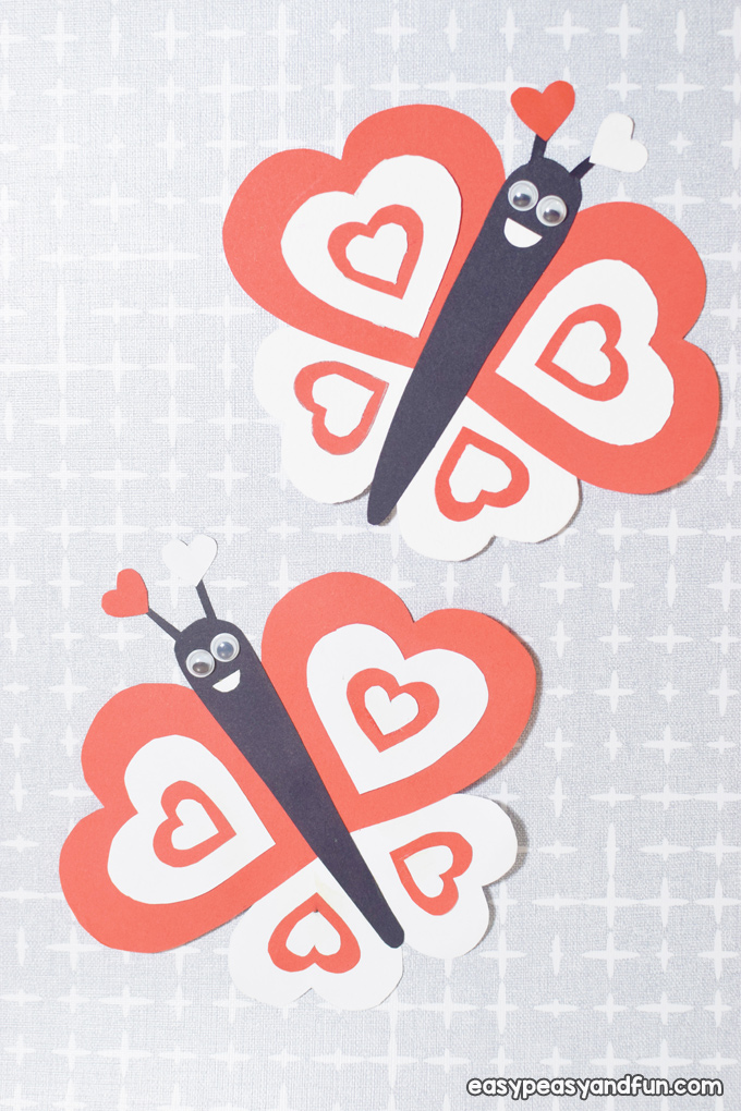 Butterfly Valentines Day Paper Craft for Kids