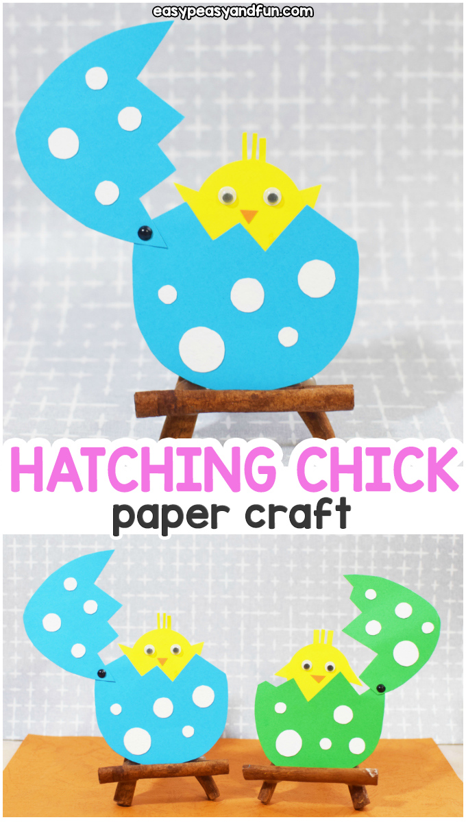 Easter Hatching Chick Paper Craft