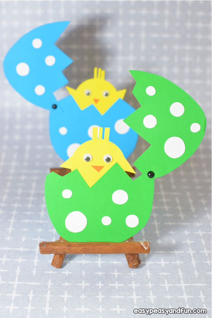 Easter Hatching Chick Paper Craft for Kids