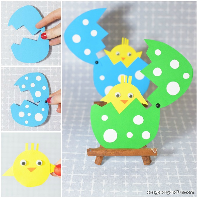 Hatching Chick Paper Craft Easter Idea