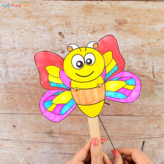 Movable Butterfly Doll Template for Kids