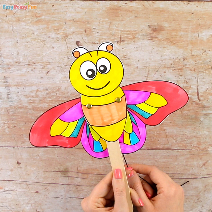 Movable Butterfly Doll Template