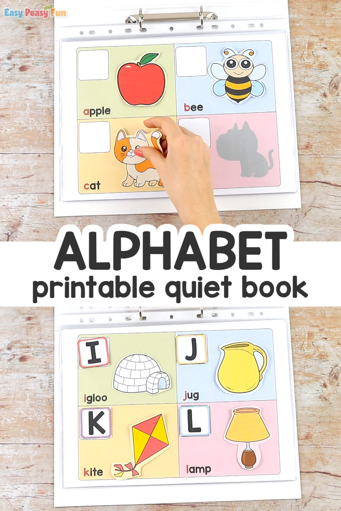Printable Alphabet Quiet Book