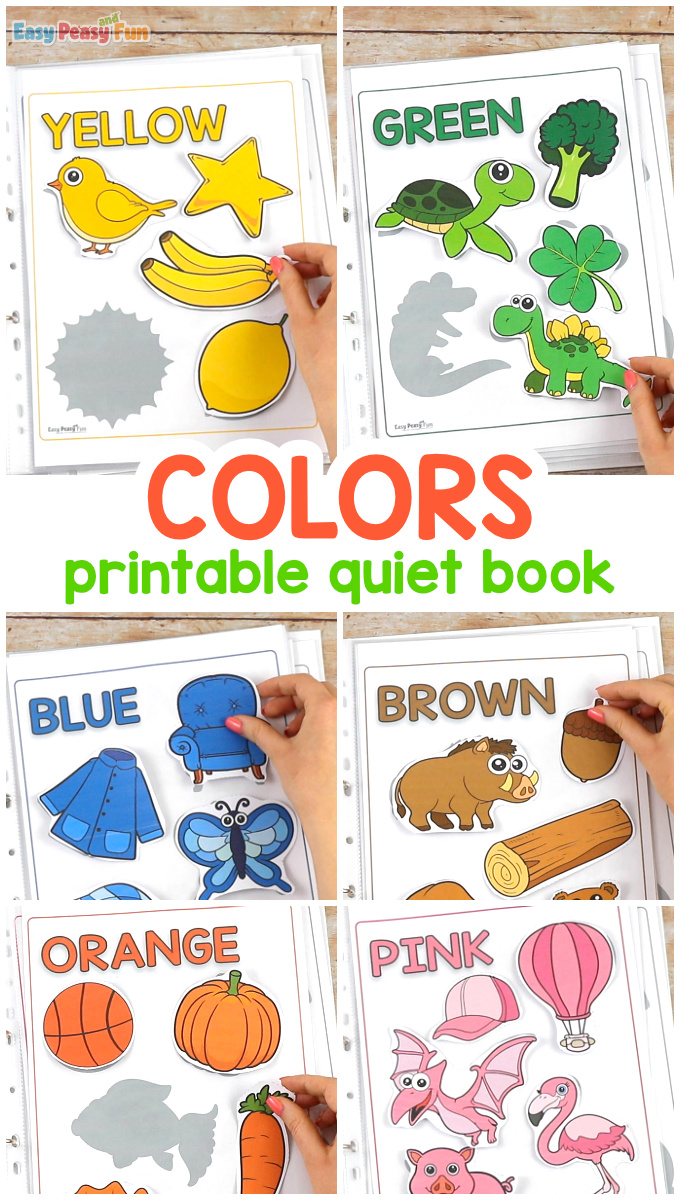 Printable Colors Quiet Book for Kids