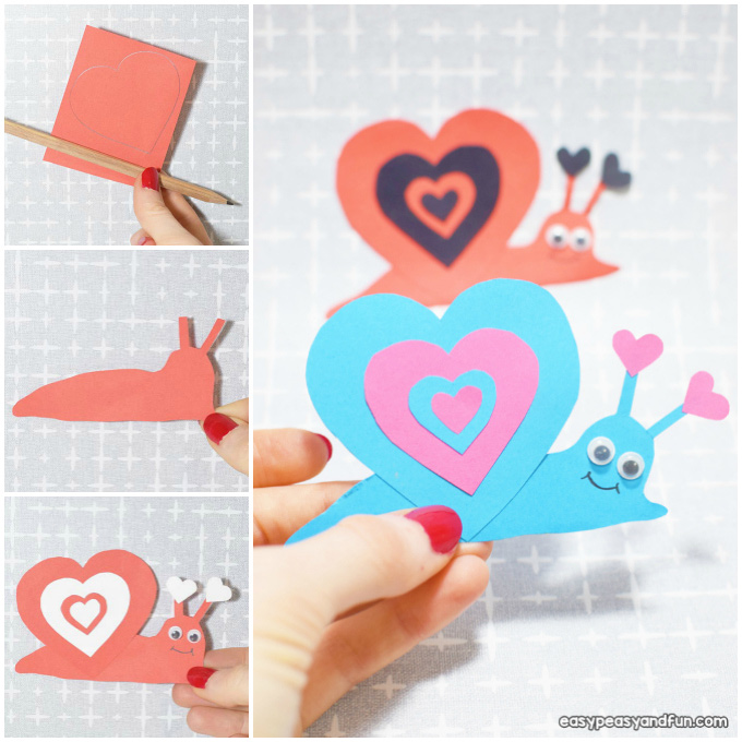 Schnecke Valentinstag Craft Idee