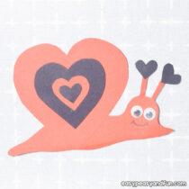 Snail Valentine's Day Craft
