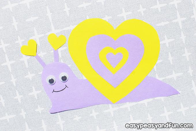 Schnecke Valentinstag Handwerk für Kinder zu machen