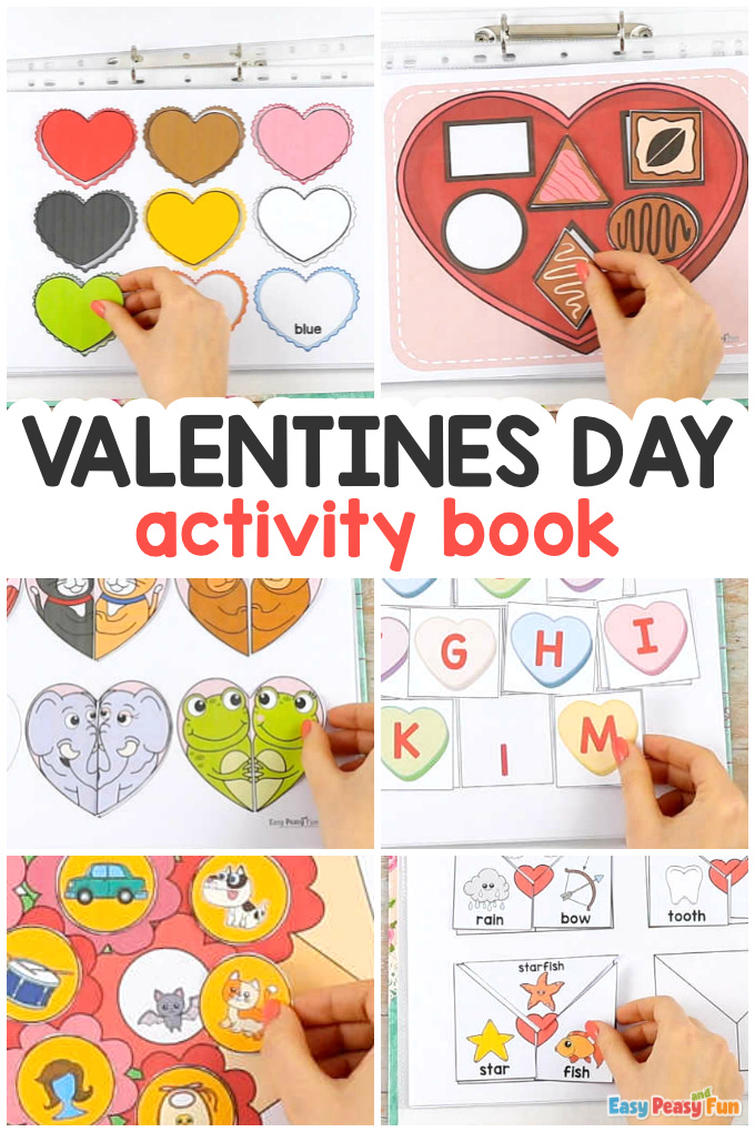 Valentines Day Quiet Book Printable