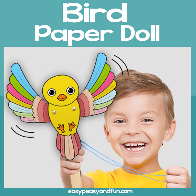Bird Paper Doll Craft for Kids