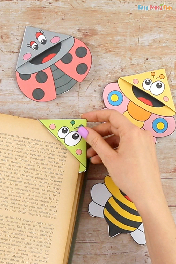 Bugs Corner Bookmarks Paper Craft for Kids