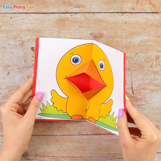 Chick Pop Up Card Template Craft
