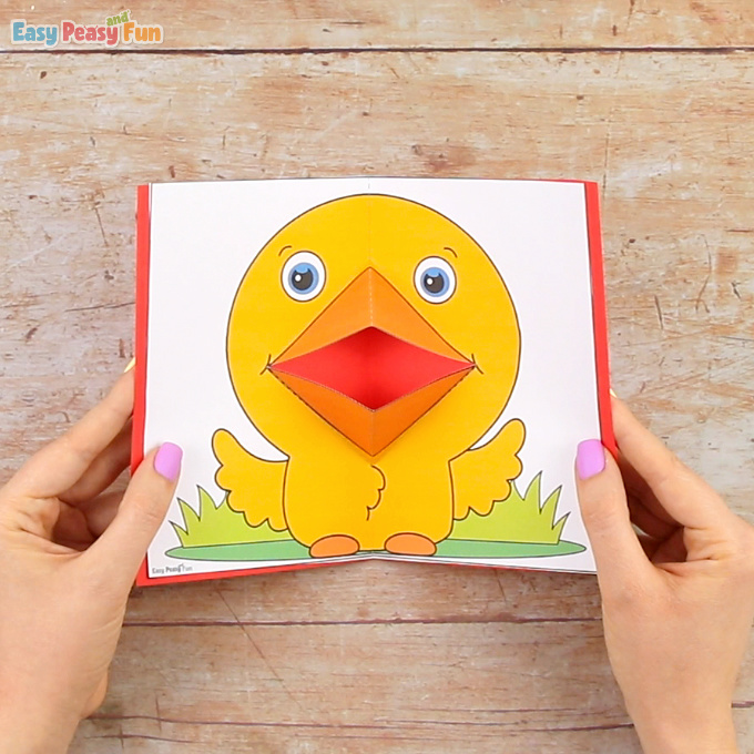 Chick Pop Up Card Template