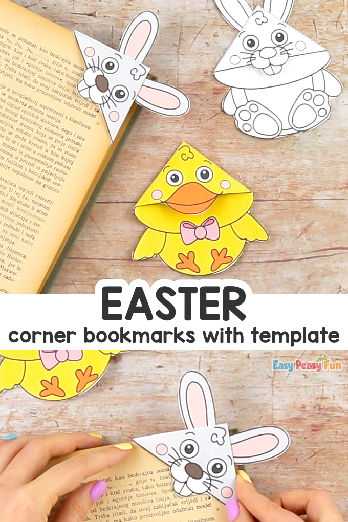 Cute Easter Corner Bookmarks With Template Easter Craft for Kids
