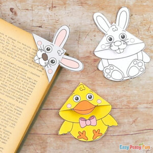 Easter Corner Bookmarks With Template
