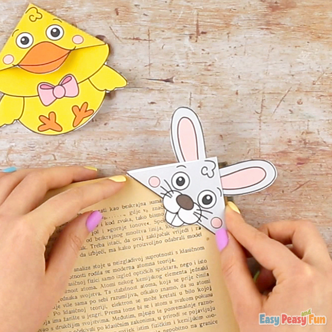 Easter Corner Bookmarks With Template Craft for Kids