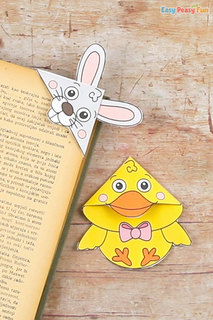Easter Corner Bookmarks With Template Easter Craft for Kids