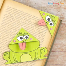 Frog Corner Bookmarks With Template