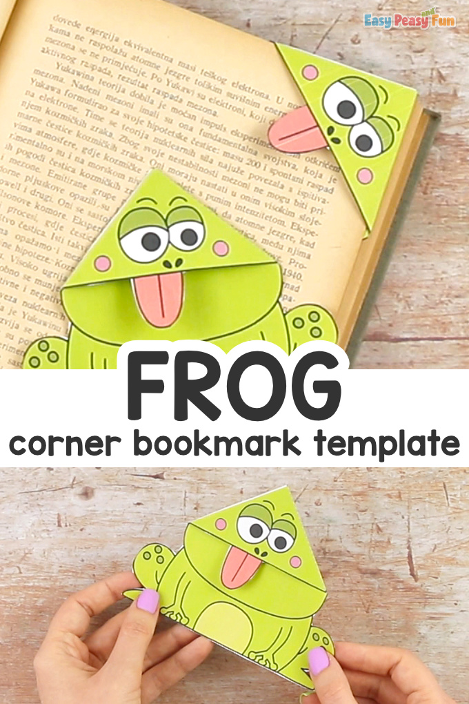 Frog Corner Bookmarks With Template Craft for Kids