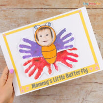 Handprint Butterfly Mothers Day Craft