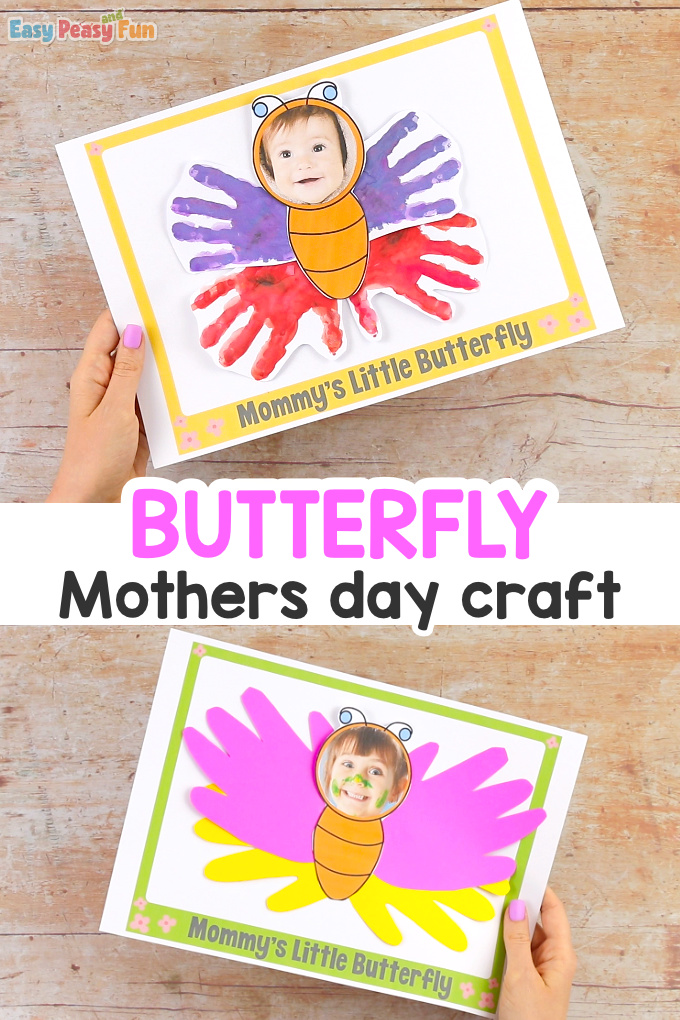 Handprint Butterfly Mothers Day Craft Idea