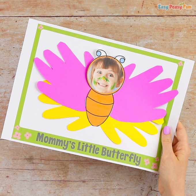 Handprint Butterfly Mothers Day Craft for Kids