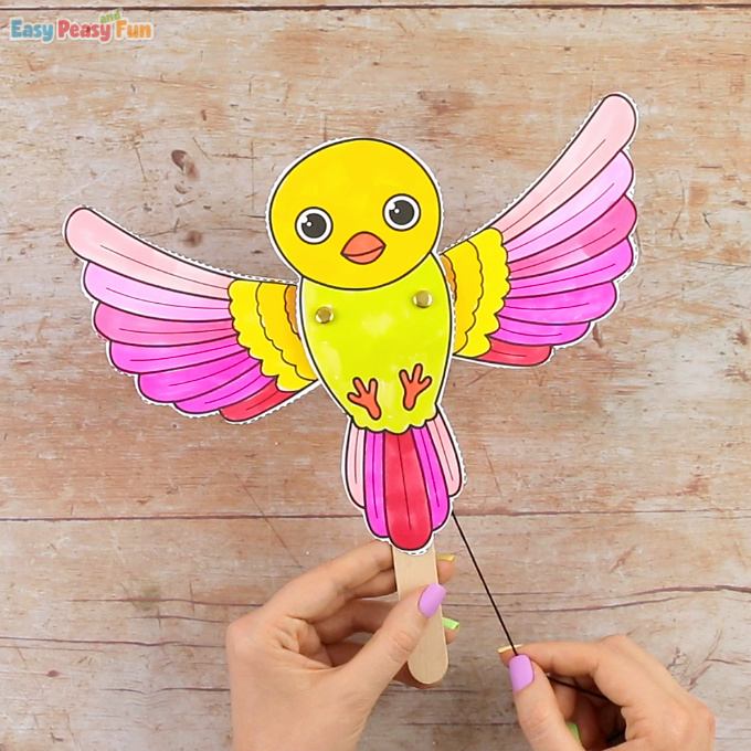 Movable Bird Paper Doll - Easy Peasy and Fun
