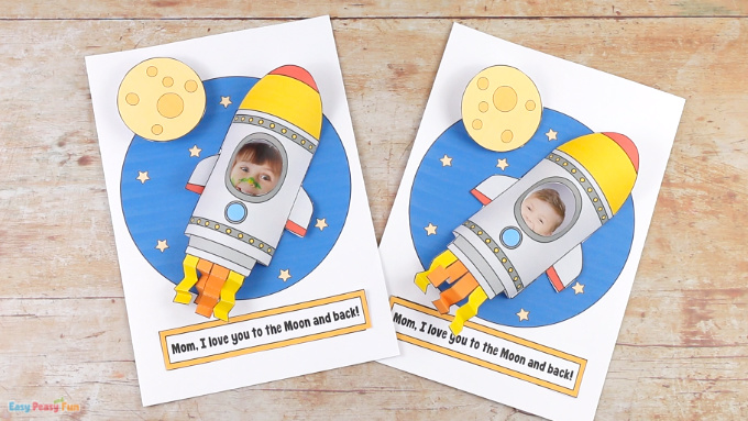 Rocket Mothers Day Craft Idea for Kids