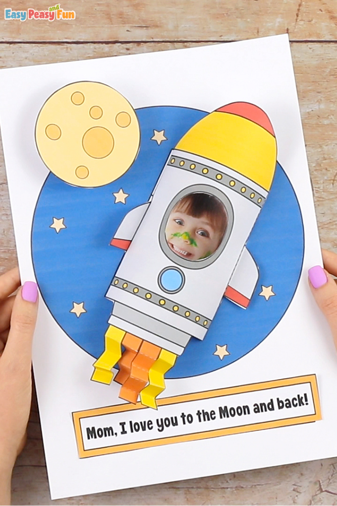 Rocket Mothers Day Craft Idea