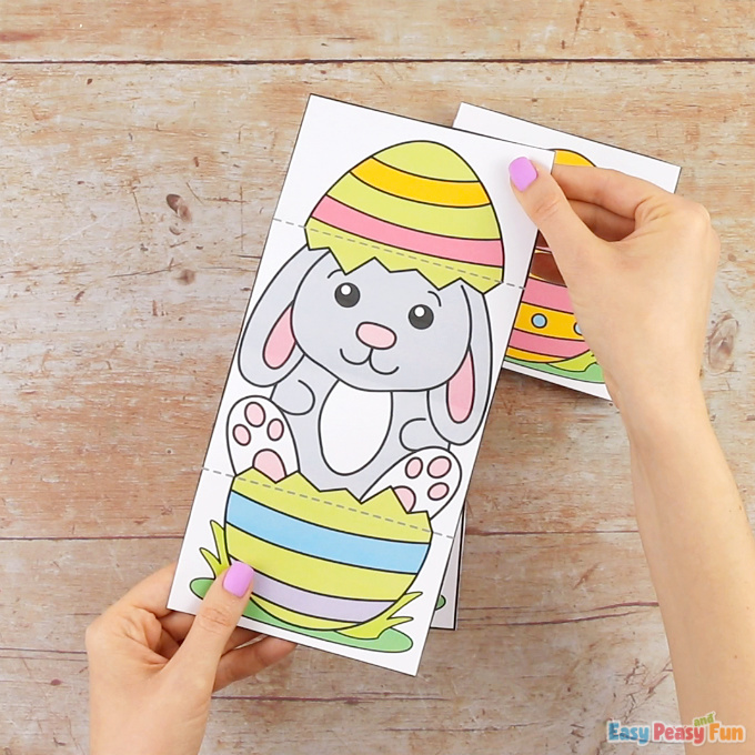 Surprise Easter Egg Cards Bunny Craft