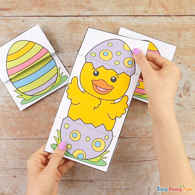 Surprise Easter Egg Cards Chick Craft