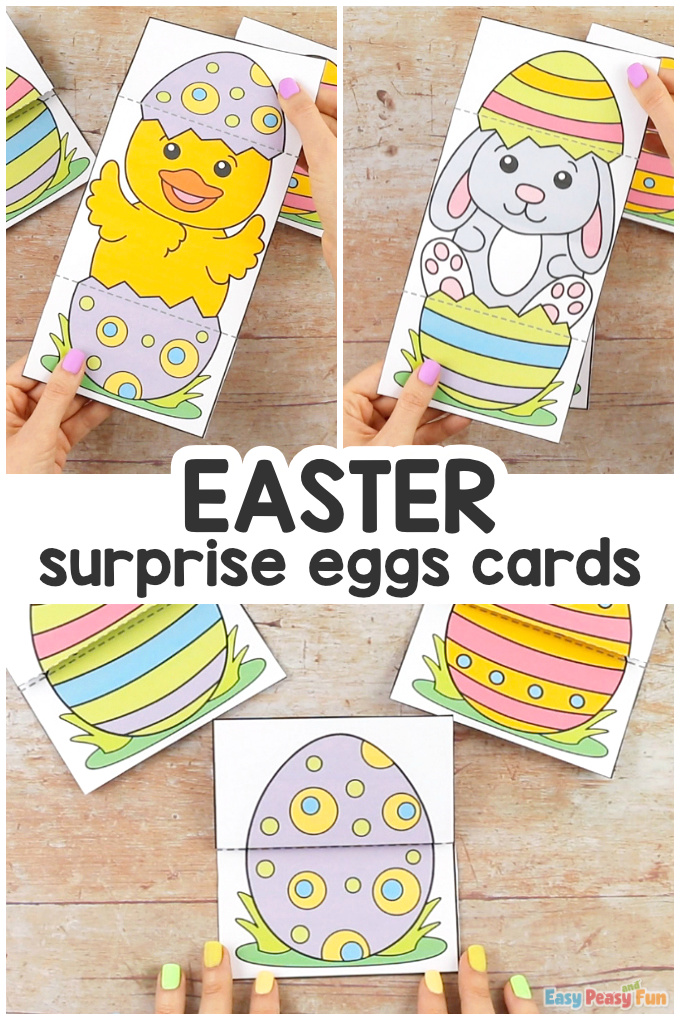 Surprise Easter Egg Cards Craft for Kids