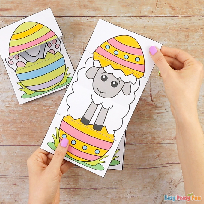 Surprise Easter Egg Cards Sheep Craft