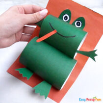 How to Make a Paper Frog Craft