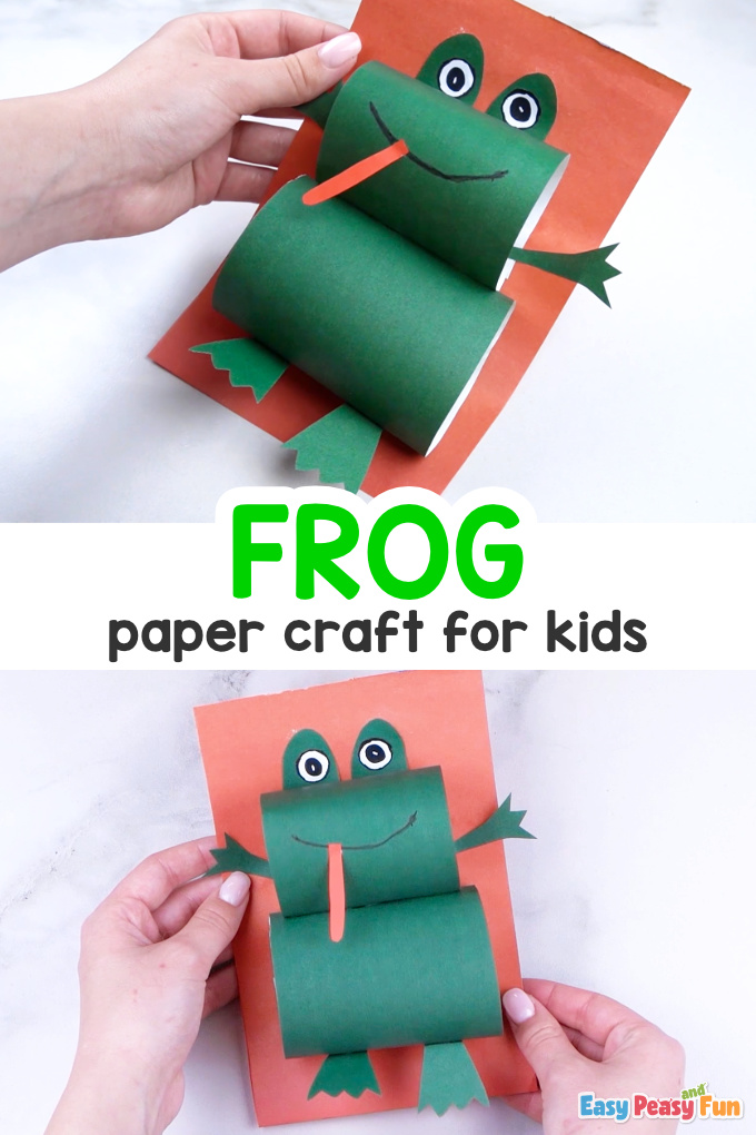 How to Make Paper Frog Craft for Kids