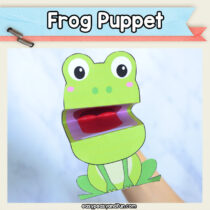 Printable Frog Puppet