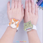 Printable Dinosaur Bracelets for Kids to Make